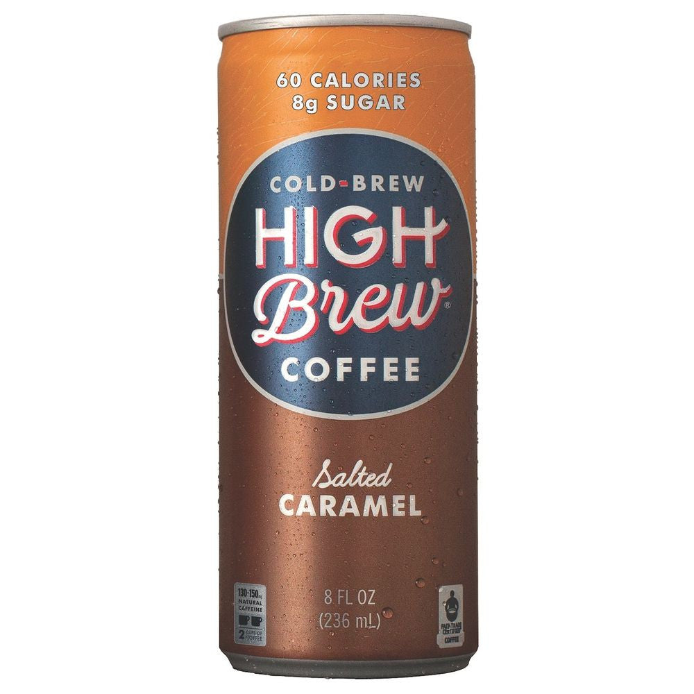 High Brew Salted Caramel Cold Brew Coffee, 8 OZ (Pack of 12)