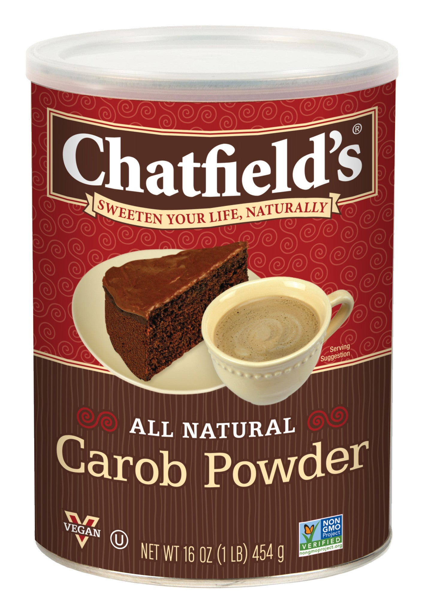 Chatfields Carob Powder, 16 OZ (Pack of 6)