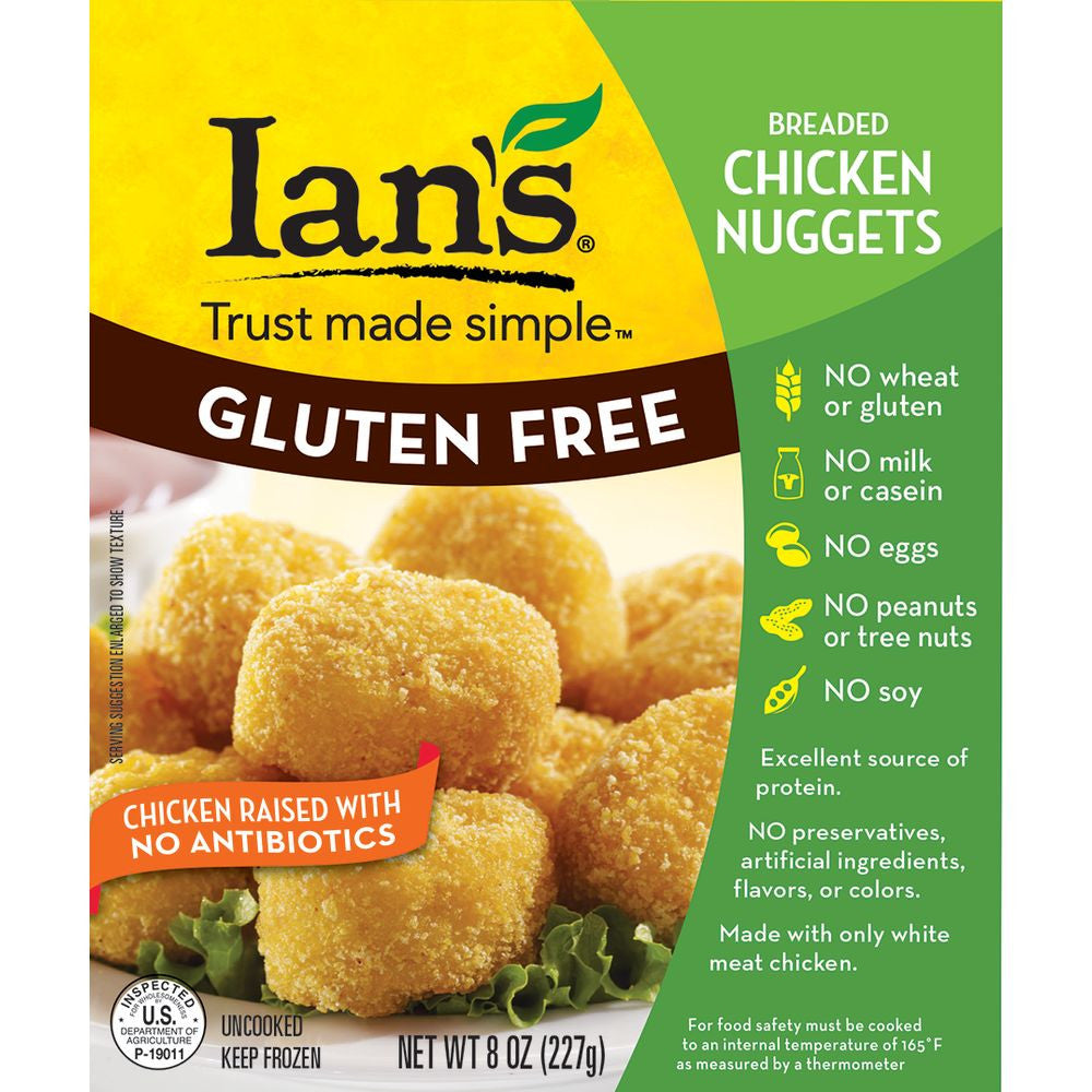 Ian's Chicken Nuggets, 8 Oz (Pack of 12)