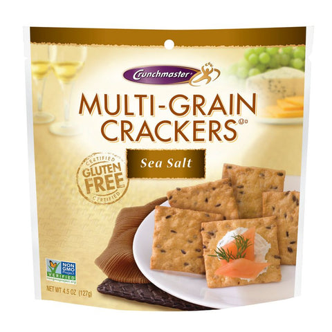 Crunchmaster Multigrain & Seasalt Cracker, 4.5 OZ (Pack of 12)
