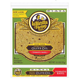 La Tortilla Factory Extra Virgin Olive Oil SoftWraps, Tomato Basil, 6 Ea (Pack of 14)
