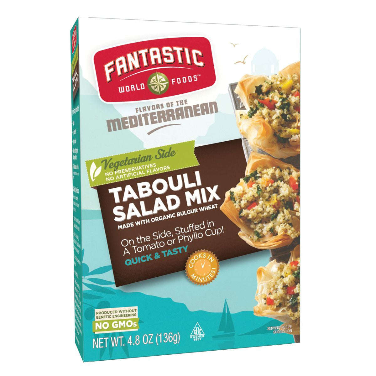 Fantastic World Foods Tabouli Salad, 4.8 Oz (Pack of 6)