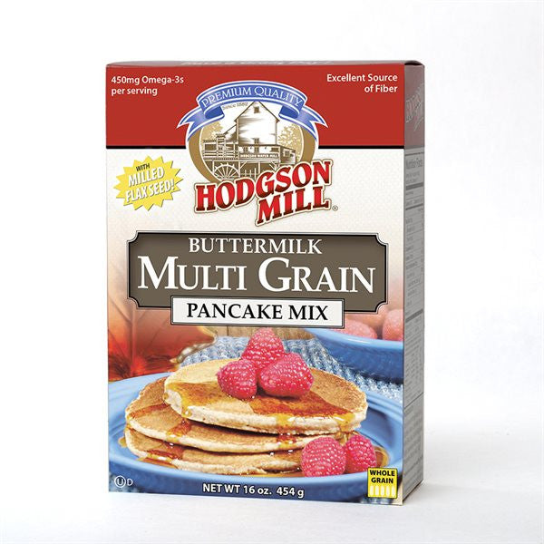 Hodgson Mill Multi Grain Buttermilk Pancake Mix, 16 Oz (Pack of 8)