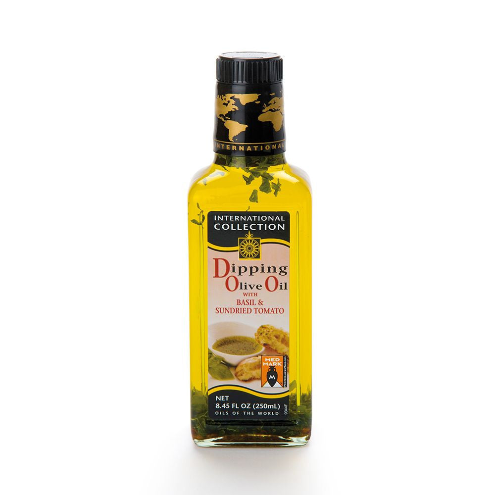 International Collection Dipping Olive Oil with Basil & Sundried Tomato, 8.45 OZ (Pack of 6)