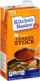Kitchen Basics Original Turkey Cooking Stock 32 fl. Oz Aseptic Carton (Pack of 12)