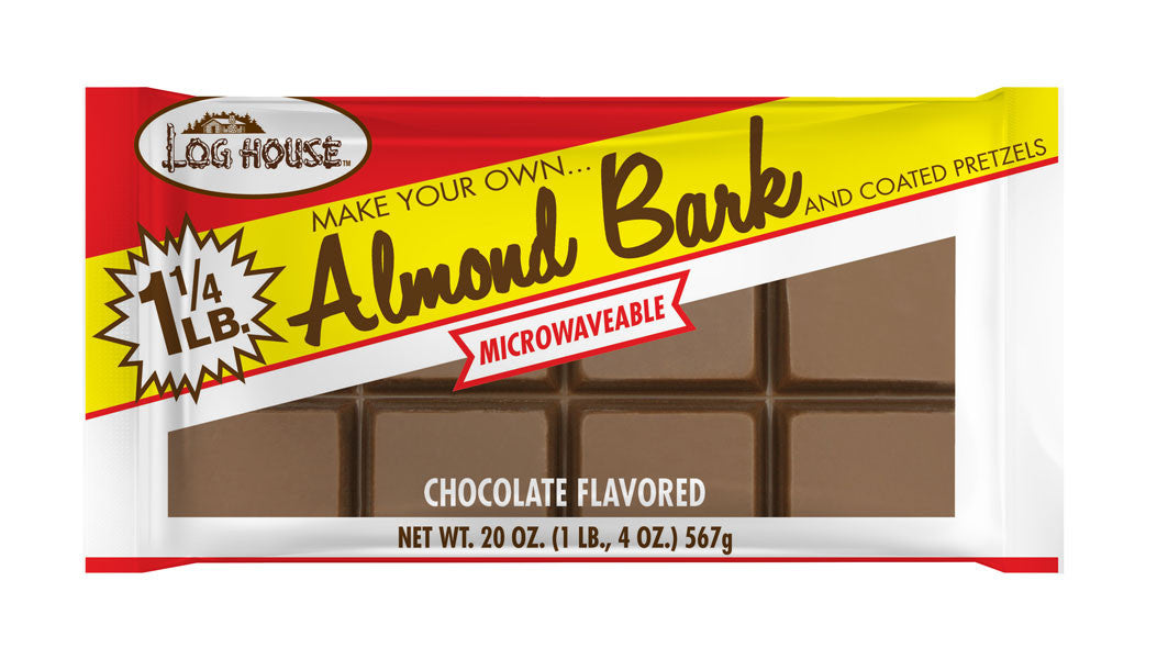 Log House Chocolate Almond Bark, 20 OZ (Pack of 12)