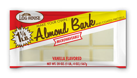 Log House Vanilla  Almond Bark, 20 OZ (Pack of 12)