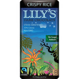 Lily's Sweets Crispy Rice Dark Chocolate Bar, 3 Oz (Pack of 12)