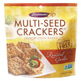 Crunchmaster Roasted Garlic Cracker, 4.5 OZ (Pack of 12)