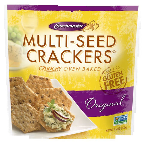 Crunchmaster Multiseed Cracker, 4.5 OZ (Pack of 12)
