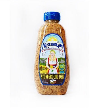 Mustard Girl Gluten Free Stoneground Deli Mustard, 12 OZ (Pack of 12)