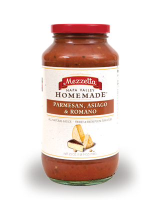 Mezzetta Napa Valley Homemade Parmesan, Asiago & Romano Sauce, 25 OZ (Pack of 6)