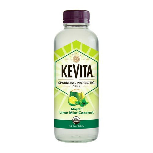 Kevita Mojita Lime Mint Coconut Sparkling Probiotic Drink, 15.2 Oz (Pack of 12)