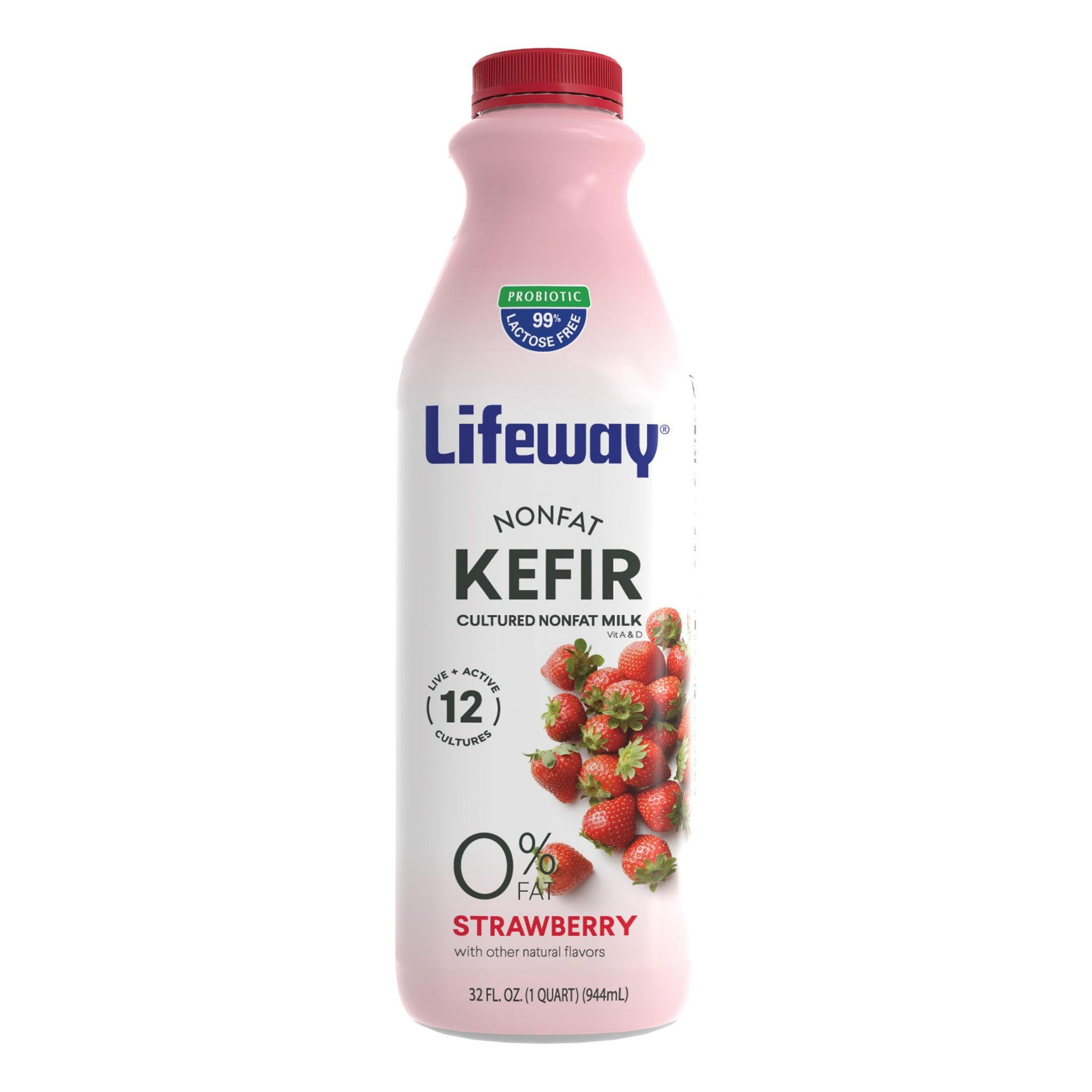Lifeway Nonfat Strawberry, 32 Oz (Pack of 6)