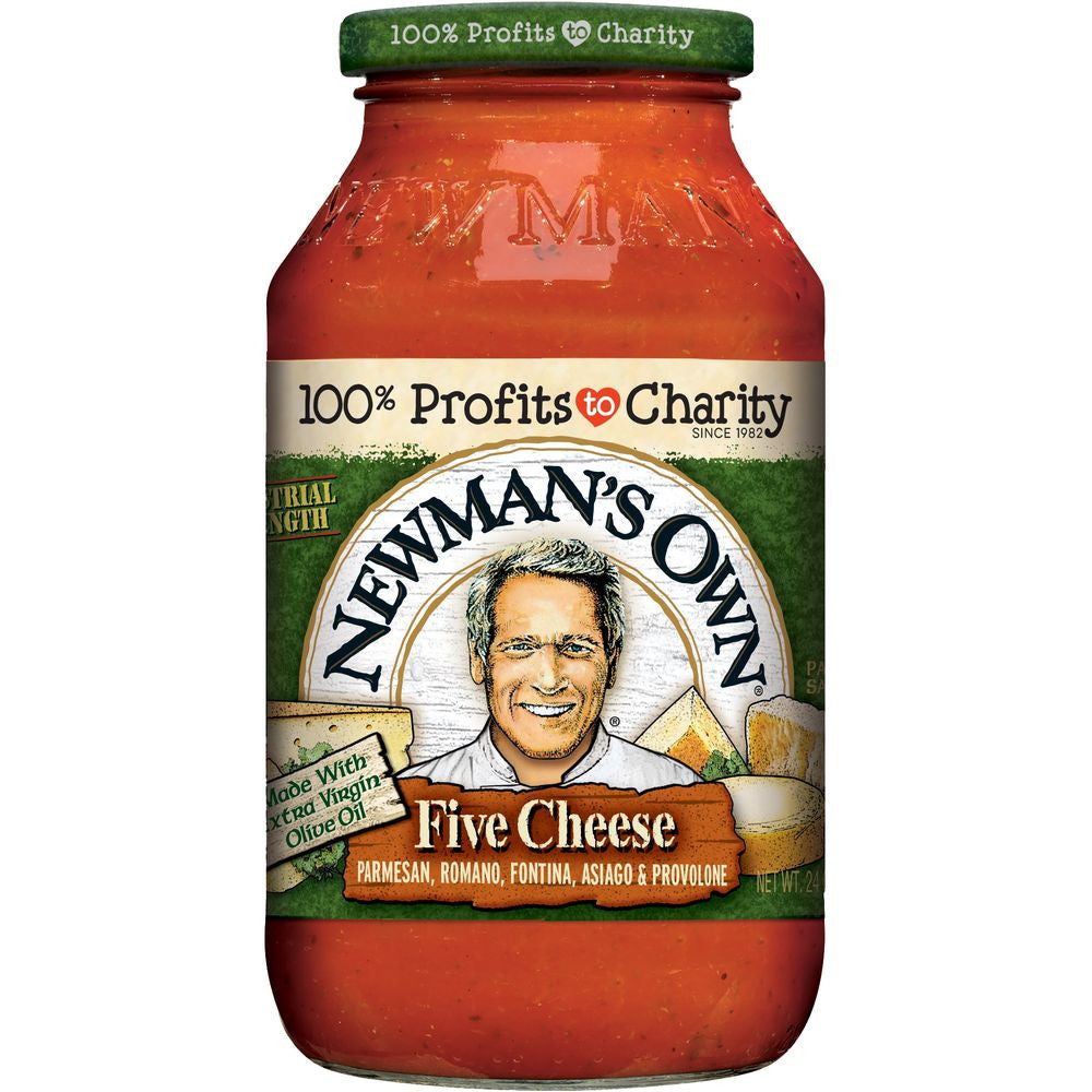 Newmans Own Five Cheese Pasta Sauce, 24 OZ (Pack of 12)