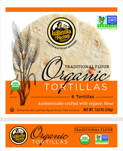 La Tortilla Factory Organic, Non-GMO Tortillas, Traditional Flour,  6 Ea (Pack of 10)