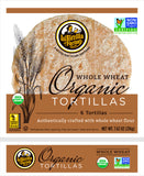 LaTortilla Factory Organic, Non-GMO Tortillas, Whole Wheat,  6 Ea (Pack of 10)