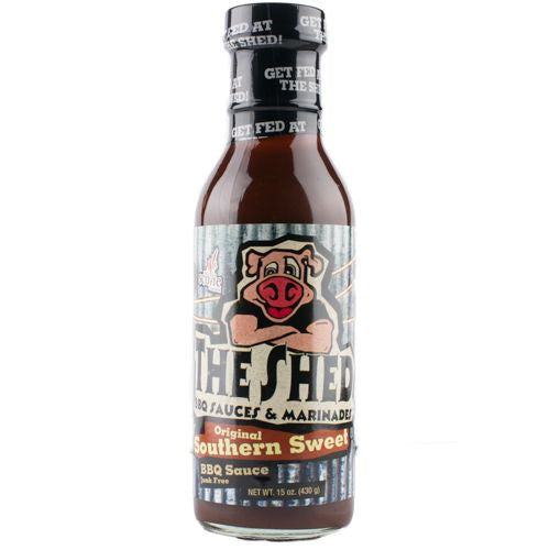 The Shed BBQ Southern Sweet Shed BBQ Sauce, 15 OZ (Pack of 6)