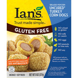 Ians Popcorn Turkey Corn Dogs , 8 Oz (Pack of 12)