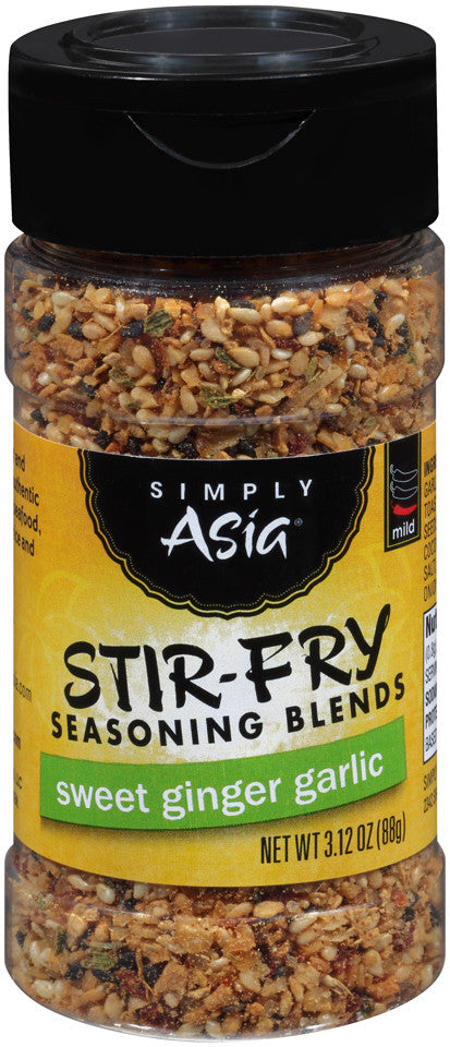 Simply Asia Stir Fry Seasoning Blends Sweet Ginger Garlic, 3.12 Oz (Pack of 6)