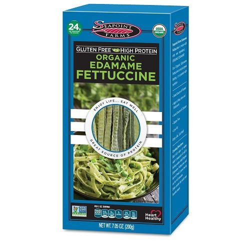 Sea Point Farms Organic Edamame Fettuccine, 7.05OZ (Pack of 12)