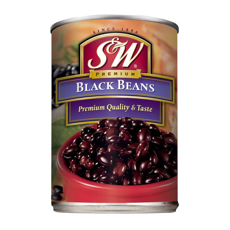 S&W  Black Beans 15 Oz  (Pack of 12)