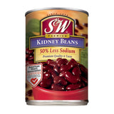 S&W Red Kidney Bean 50% Less Sodium 15.25 Oz  (Pack of 12)