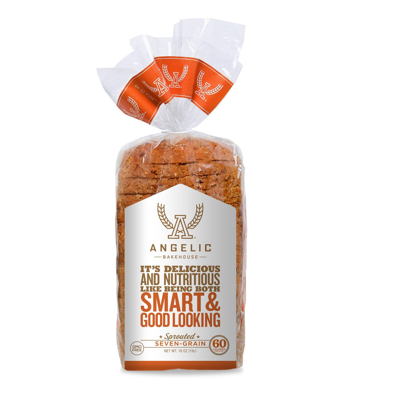 Angelic Bakehouse Seven-Grain Sprouted Bread, 16 Oz (Pack of 8)