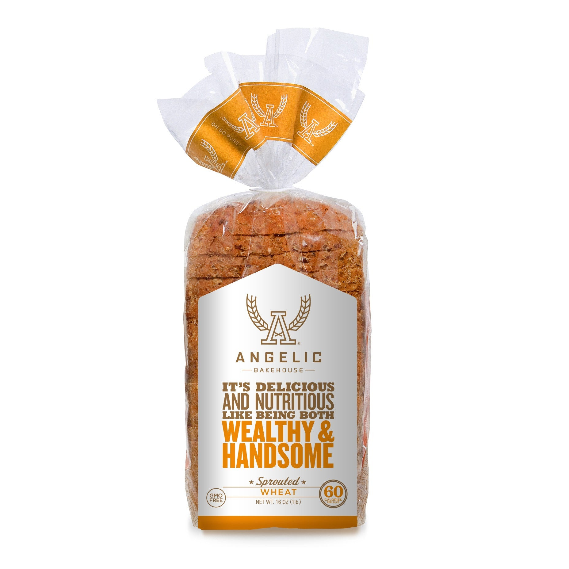 Angelic Bakehouse Wheat Sprouted Bread, 16 Oz (Pack of 8)