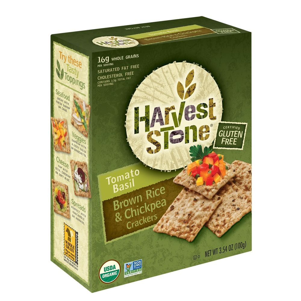 Harvest Stone Tomato Basil Cracker, 3.54 OZ (Pack of 6)