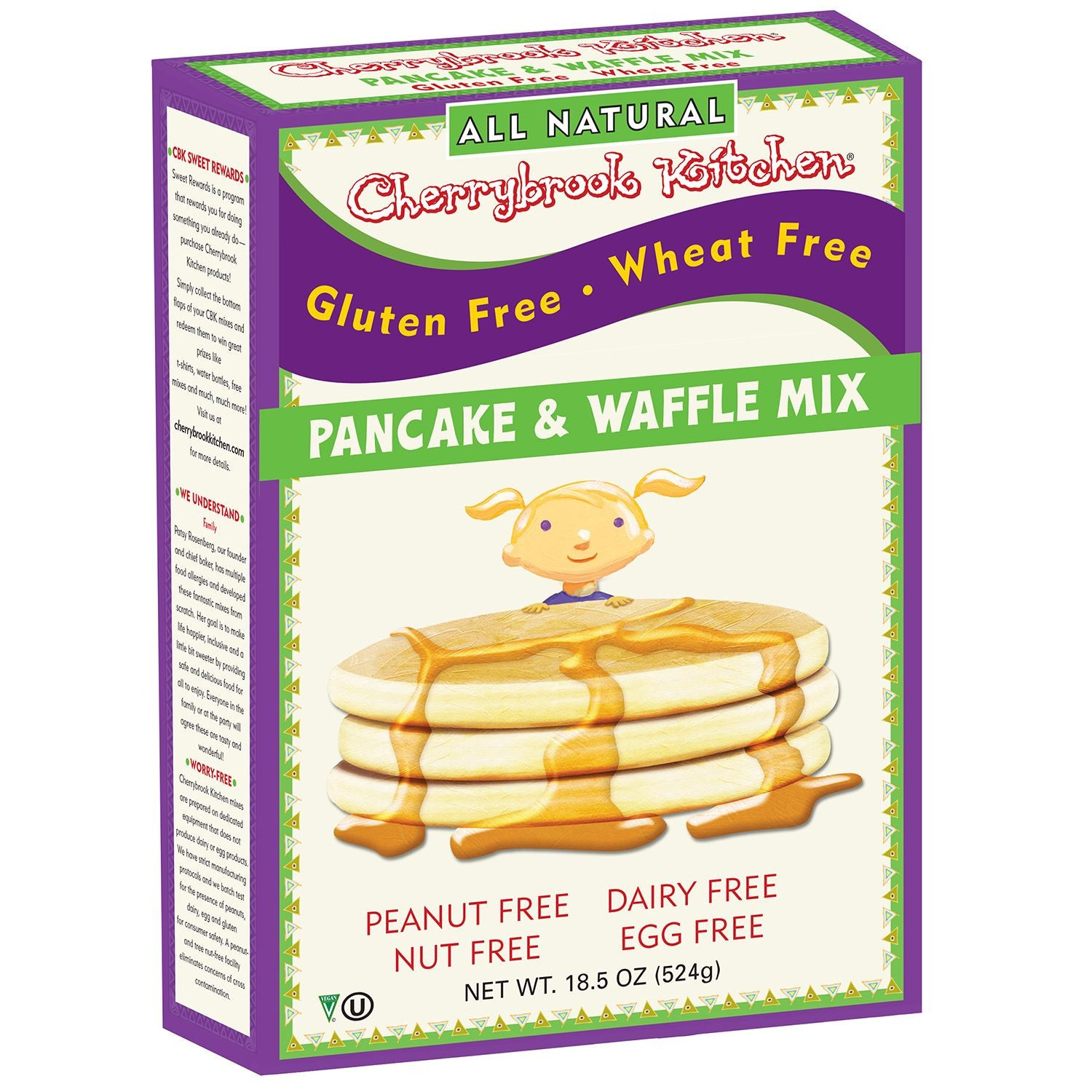 Cherrybrook Kitchens Gluten Free Pancake & Waffle Mix, 18 Oz (Pack of 6)