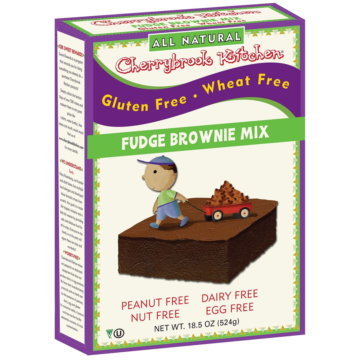 Cherrybrook Kitchens Gluten Free Brownie Mix, 14 Oz (Pack of 6)
