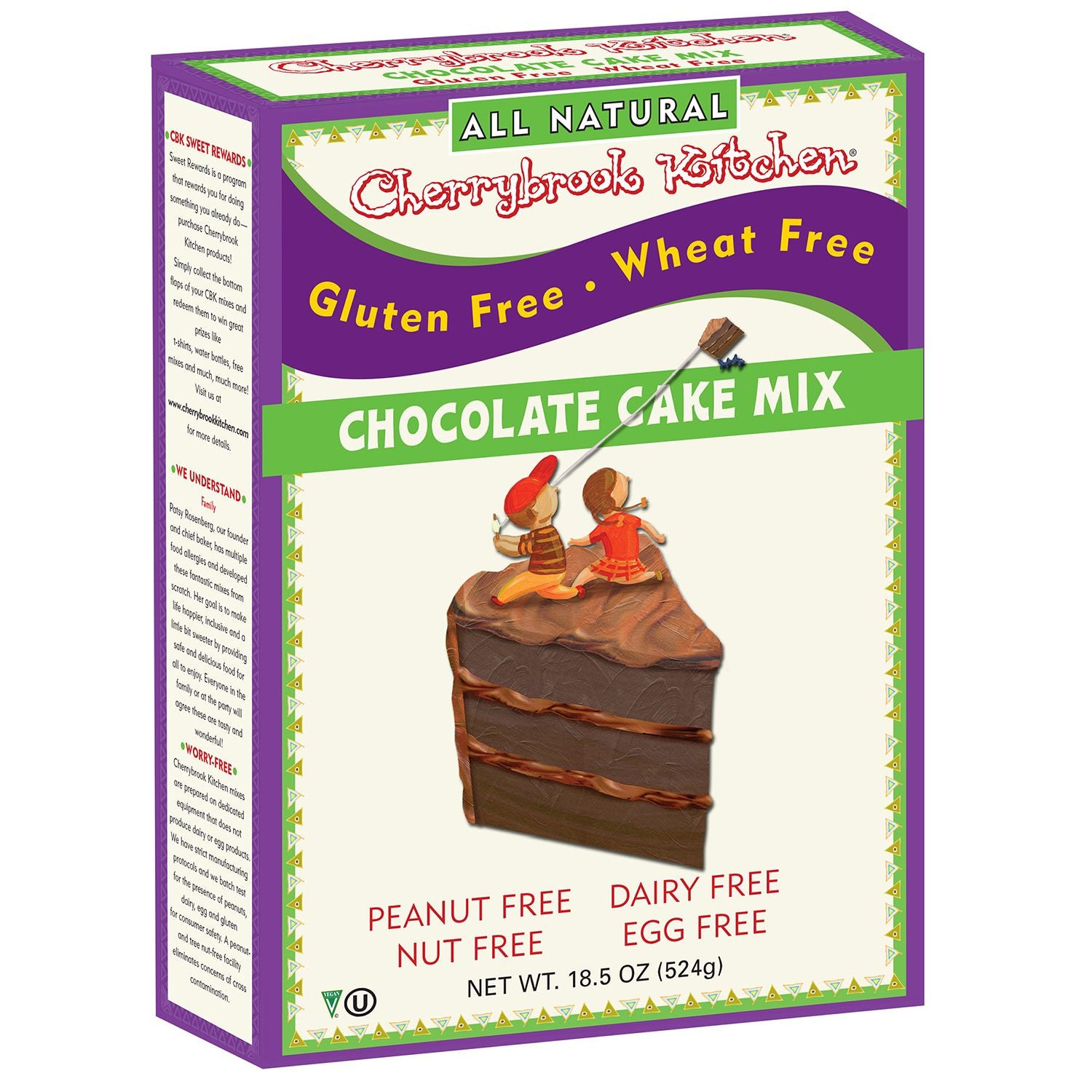 Cherrybrook Kitchens Gluten Free Chocolate Cake Mix, 16.4 Oz (Pack of 6)