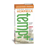 Living Harvest Hempmilk Unsweetened Original Flavor, 32 Oz (Pack of 12)