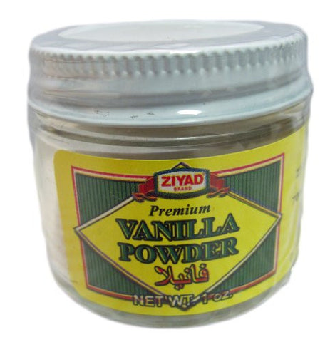 Ziyad Pure Vanilla Powder, 1 OZ (Pack of 24)