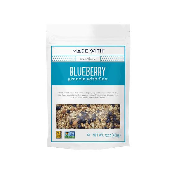 Made With Blueberry Flax Granola, 13 Oz (Pack of 6)
