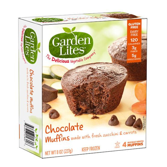 Garden Lites Veggie Muffins Zucchini Chocolate, 8 Oz (Pack of 8)