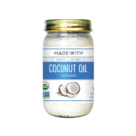 Made With Organic Coconut Oil Refined, 14 Oz (Pack of 6)