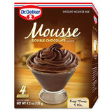 Dr. Oetker Double Chocolate Flavor Instant Mousse Mix, 4.2 Oz (Pack of 12)