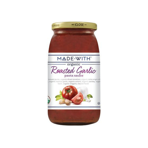 Made With Roasted Garlic Pasta Sauce, 25 Oz (Pack of 6)