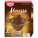 Dr. Oetker Milk Chocolate Flavor Instant Mousse Mix, 3.1 Oz (Pack of 12)