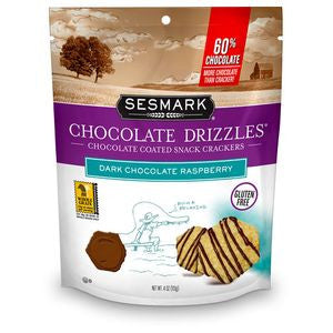 Sesmark Chocolate Drizzles, Dark Chocolate Raspberry, 4 Oz (Pack of 6)