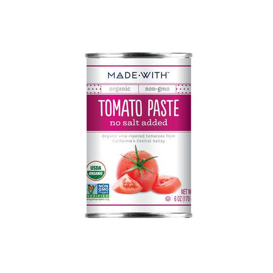 Made With Tomato Paste No Salt Added, 6 Oz (Pack of 24)