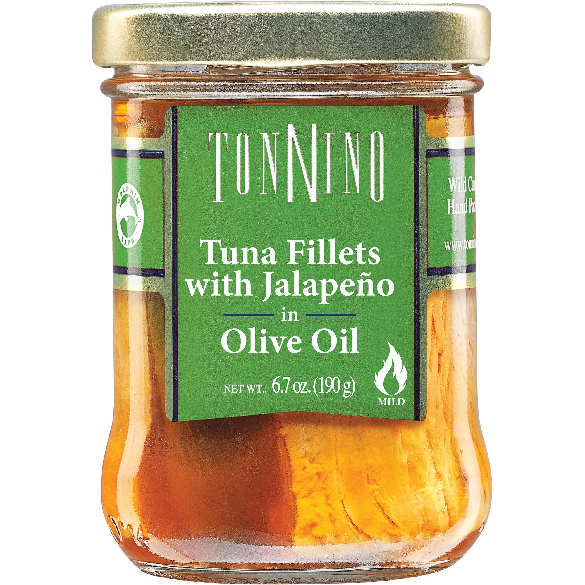 Tonnino Tuna Fillet with Jalapeno in Olive Oil, 6.7 OZ (Pack of 6)