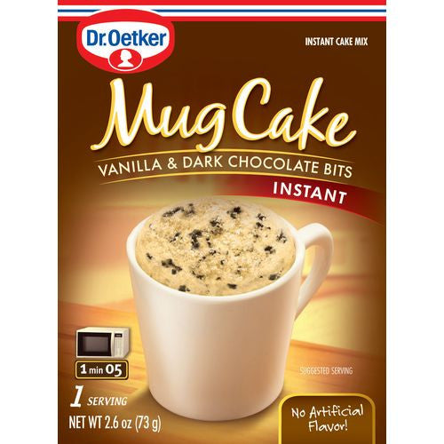 Dr. Oetker Mug Cake Vanila & Dark Chocolate Bites, 2.6 Oz (Pack of 12)