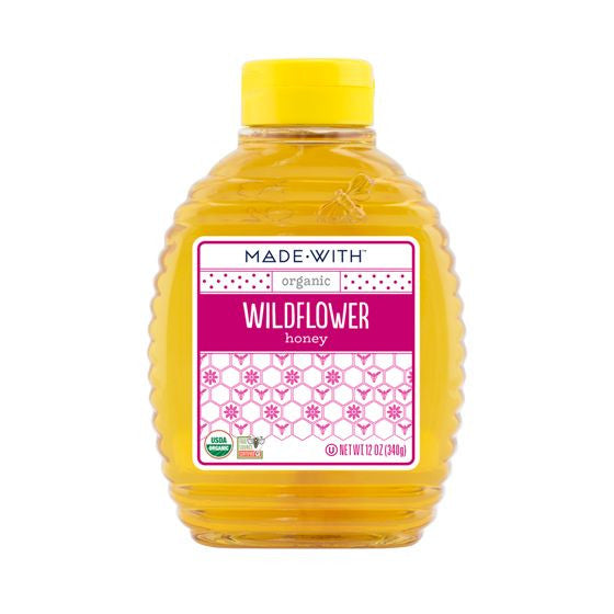 Made With Wildflower Honey, 12 Oz (Pack of 12)