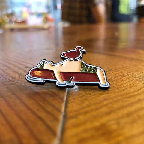 Flyway Enamel Pin