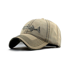 100% Cotton Fish Bone Fishing Hat