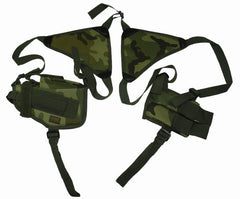 Ambidextrous Pistol Shoulder Holster With Magazine Holder