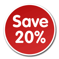 Join Our Savers Club and Save 20% On Everything In The Store All The Time!